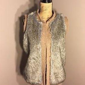 ZARA Knit Wear Faux Fur Vest